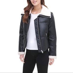 The Breanna Sherpa Collar Puffer Jacket